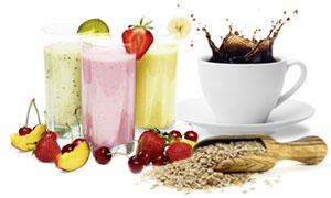 Getränke und Nahrungsergänzung