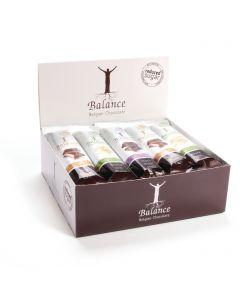 Gefuellte Schokoladenriegel ohne Zuckerzusatz 20 x 35g Mix-Pack von Balance