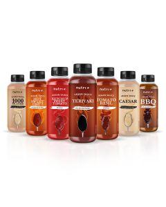 Vegane, fettfreie und zuckerarme Salatsaucen 265ml Flasche von Nutri-Plus