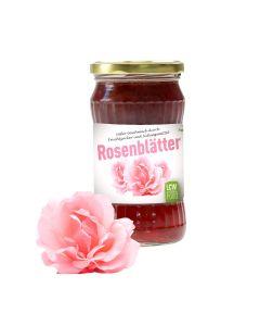 Fruchtaufstrich OHNE Kristallzucker Rosenblätter 340g von LCW